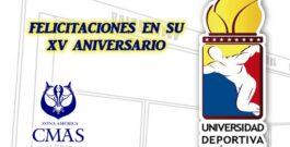 CMAS Zona América felicita a la Universidad Deportiva del Sur de Venezuela en su XV Aniversario