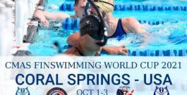 XV Copa Mundo CMAS Natación con Aletas 2021 – Coral Springs, USA – Resultados